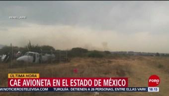 Foto: Cae avioneta en el Estado de México