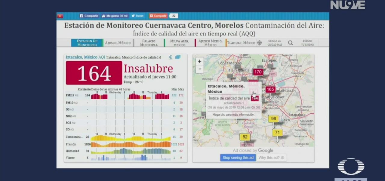 Foto: Calidad del aire en el Valle de México, de mala a peligrosa