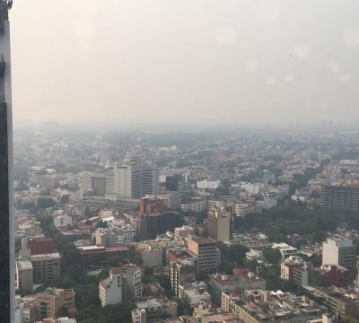 Calidad del aire muy mala en el Valle de México, aumenta a 158 puntos