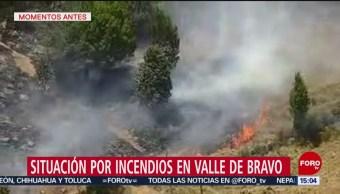 FOTO: Calor complica trabajos para sofocar incendios en Valle de Bravo