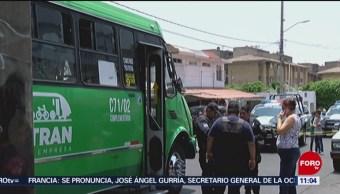 Camión de transporte público atropella a niño de 2 años