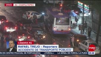 Foto: Choque Camión Chapultepec CDMX24 Mayo 2019