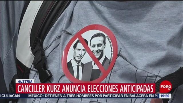 FOTO: Canciller de Austria anuncia elecciones anticipadas, 18 MAYO 2019