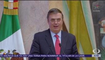 Canciller Marcelo Ebrard defiende política de asilo