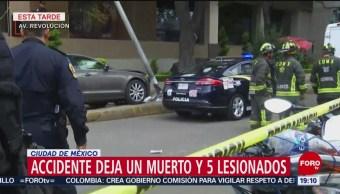 FOTO: Cancillería lamenta muerte de persona en accidente sobre avenida Revolución, 25 MAYO 2019