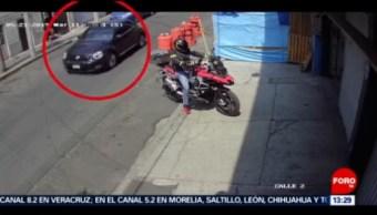 FOTO: Captan asalto a motociclista en la Ciudad de México, 24 MAYO 2019