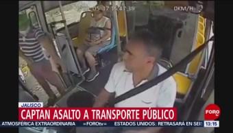 FOTO:Captan asalto a transporte público en Jalisco, 19 MAYO 2019