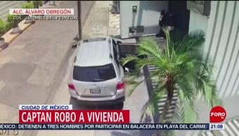 FOTO: Captan robo a vivienda en la Ciudad de México, 19 MAYO 2019