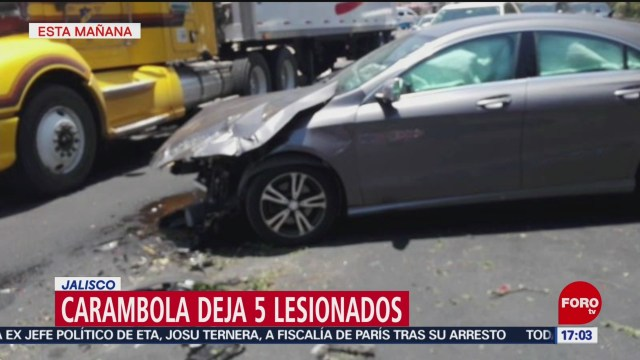 FOTO: Carambola deja 5 lesionados en Jalisco, 18 MAYO 2019