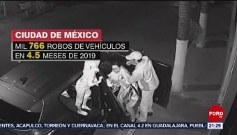 Foto: CDMX Robos Vehículos Violencia 9 de Mayo 2019