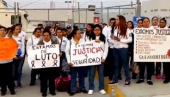 Trabajadores de Cefereso protestan tras ataque a custodios en Puente de Ixtla