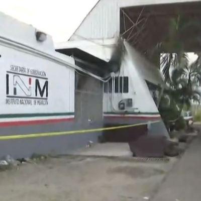 Centroamericanos provocaron incendio en estación migratoria de Tapanatepec, Oaxaca