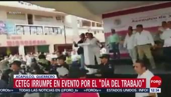 FOTO: CETEG irrumpe en evento de 1 de mayo en Acapulco, 1 MAYO 2019