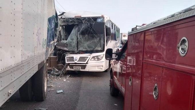 Foto: Accidente en la México-Querétaro , 15 de mayo 2019. Twitter @ElInformanteMX