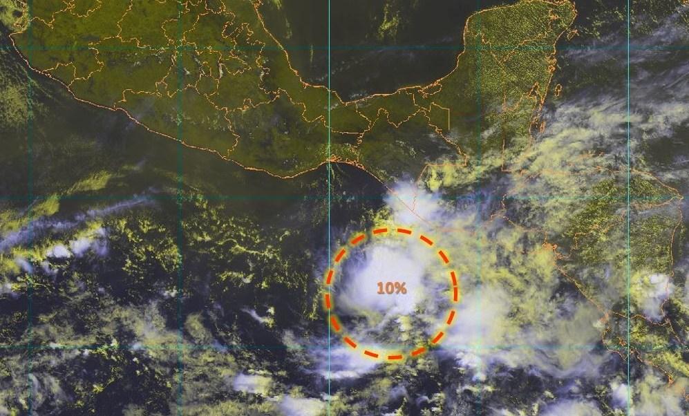 Foto: El Servicio Meteorológico Nacional informa sobre una baja presión en el Océano Pacífico con la probabilidad de desarrollarse un ciclónico en las próximas horas, mayo 18 de 2019 (Twitter: @conagua_clima)