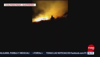 Foto: Combaten incendio forestal en Chilpancingo, Guerrero
