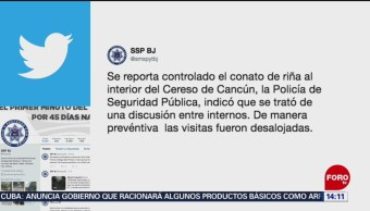 FOTO: Conato de riña en penal de Cancún, Quintana Roo, 12 MAYO 2019