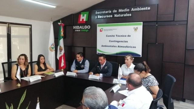 Foto: Autoridades levantan la Contingencia Ambiental en la zona Metropolitana de Pachuca, mayo 18 de 2019 (Twitter: @AlcaldiaPachuca)
