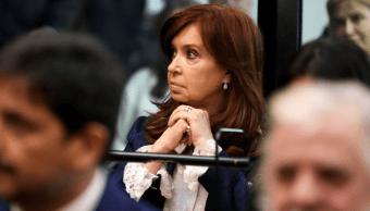 Foto: Cristina Fernández, expresidenta de Argentina, durante juicio en su contra, 21 de mayo de 2019
