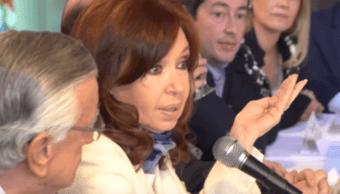 FOTO Cristina Fernández anuncia candidatura a Vicepresidencia (YouTube 18 mayo 2019 buenos aires)