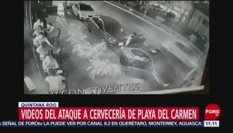 Dan a conocer videos del ataque en bar de Playa del Carmen