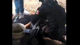 Foto: desarticulan presunta banda de secuestradores en Naucalpan, 23 de mayo 2019. Twitter @FiscalEdomex