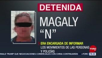 FOTO: Detienen a mujer ligada a grupo criminal en San Luis Potosí, 11 MAYO 2019