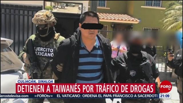 Foto: Detienen Taiwanés Tráfico Drogas Sinaloa 9 de Mayo 2019
