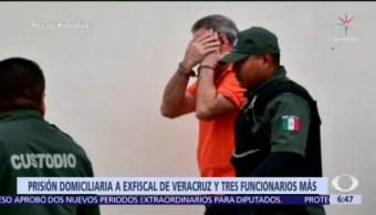 Dictan prisión domiciliaria a exfiscal de Veracruz y tres funcionarios más