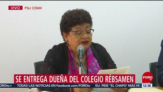 FOTO: Directora del Colegio Rébsamen fue detenida en restaurante de Tlalpan: PGJ-CDMX, 11 MAYO 2019