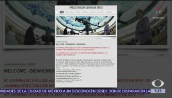 Disminuyen homicidios de periodistas en el mundo, pero no México