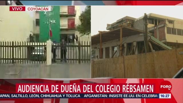 Foto: Dueña del Colegio Rébsamen acude a audiencia legal
