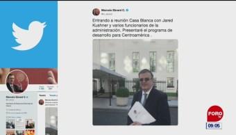 Ebrad llega a la Casa Blanca para reunión con Kushner