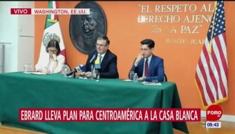 Ebrard lleva a la Casa Blanca el plan para Centroamericana