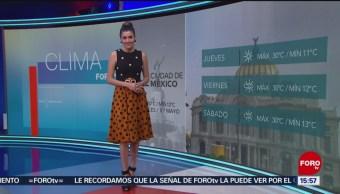 Foto: El Clima 'A las Tres' con Daniela Álvarez del 8 de mayo de 2019