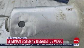 FOTO:Eliminan sistemas ilegales de videovigilancia en Tamaulipas, 19 MAYO 2019