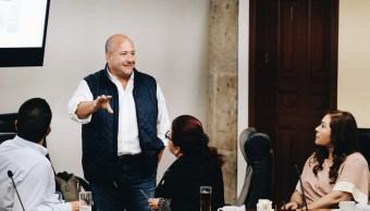 Foto: Enrique Alfaro, gobernador de Jalisco. 21 de mayo 2019. Twitter @EnriqueAlfaroR