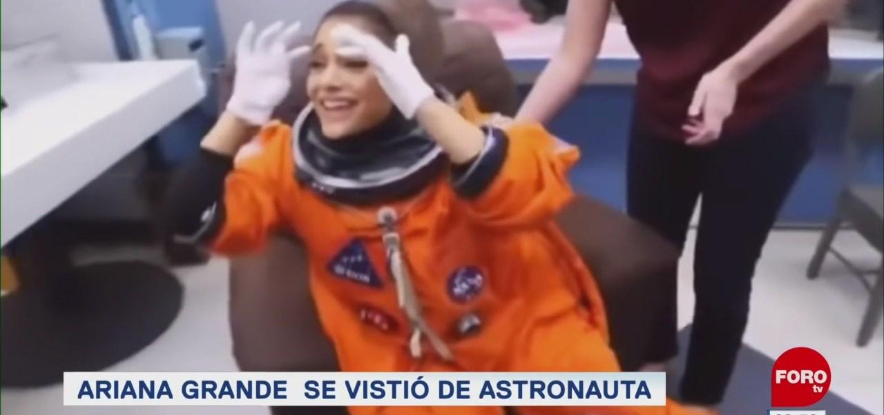 #EspectáculosenExpreso: Ariana Grande se vistió de astronauta