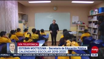 FOTO: Esteban Moctezuma explica el calendario escolar 2019-2020, 28 MAYO 2019