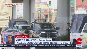 Fallece conductor tras incidente vial en avenida Tláhuac