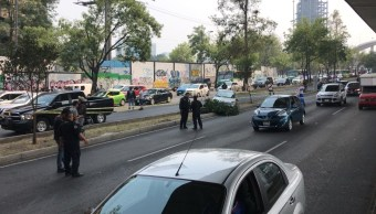 Foto: Un supuesto ladrón murió después de una persecución en Periférico Sur, en Ciudad de México. El 14 de mayo de 2019