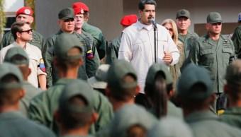 Foto: El presidente Nicolás Maduro habla a militares venezolanos en Caracas. El 21 de mayo de 2019