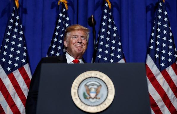 Foto: El presidente Donald Trump habla durante un mitin en Washington, EEUU. El 17 de mayo de 2019