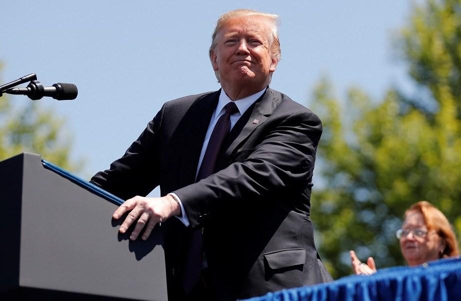 Foto: El presidente Donald Trump habla durante un evento en Capitol Hill en Washington, EEUU. El 15 de mayo de 2019