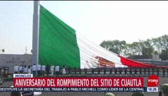 FOTO: Fuerzas armadas conmemoran el aniversario del rompimiento del sitio de Cuautla