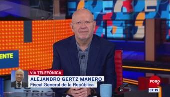 Gertz Manero habla sobre su informe de 100 días en la FGR