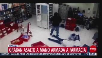 Graban asalto a mano armada a farmacia de Oaxaca
