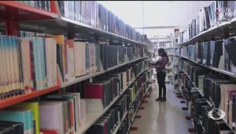 Foto: Estudiante FES Acatlán Bibliotecas Oaxaca 31 Mayo 2019