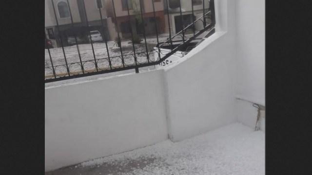 Foto: granizada en Saltillo, Coahuila, 3 de mayo 2019. Twitter @conagua_clima