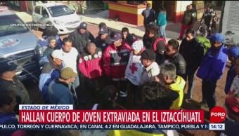 FOTO: Hallan cuerpo de joven extraviada en el Iztaccíhuatl, 12 MAYO 2019